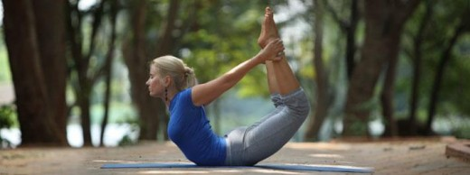 Final pose of bow in Dhanurasana is ideal for a diabetic patient