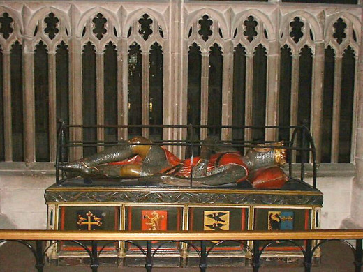 Robert's tomb in Gloucester Cathedral. The effigy was made from bog oak a century after his death at Cardiff Castle in February, 1134