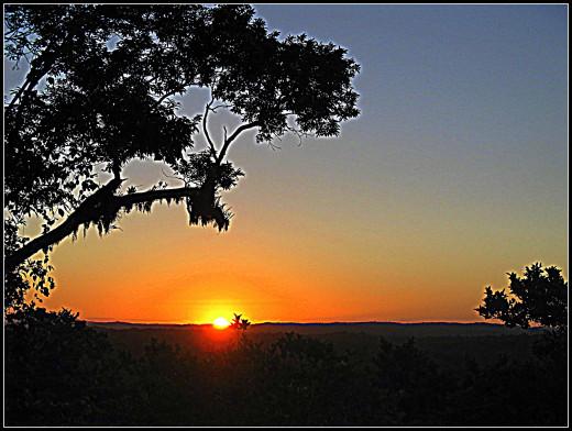 A Guatemalan sunset