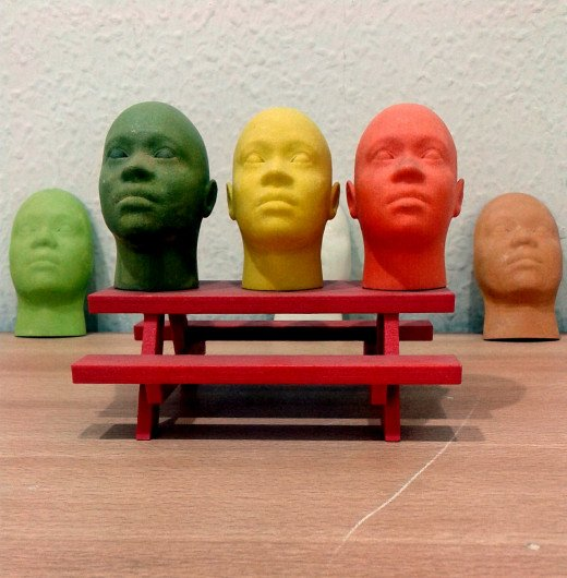 Faces made with 3D printing