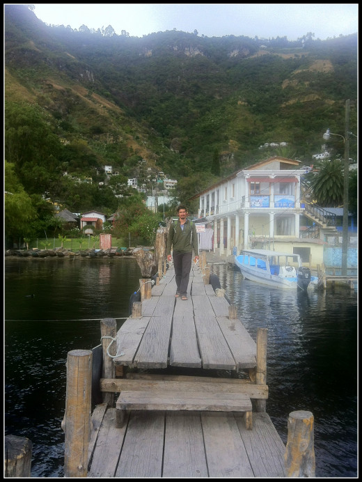 Andy returning to the lancha in Santa Catarina
