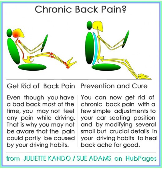 Simple adjustments to car seating to fit your body  can help you get rid of back and neck pain for good.