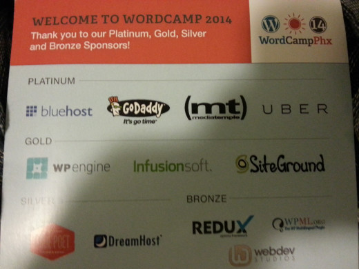 Like most programs, WordCamp relies on sponsors to help make it the success it is! They are also participants of the conference both as attendees, vendors, speakers and support.