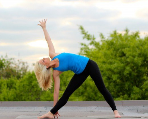 Trikonasana for keeping your diabetes levels in check.
