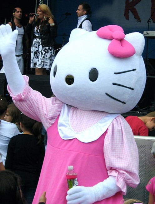 Hello Kitty Mascot .