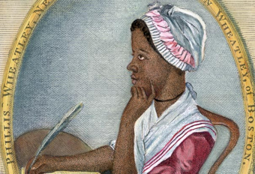 Phillis Wheatley, kidnapped into slavery