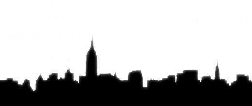 A city skyline.