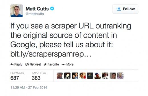 Matt Cutts - Head of Google Spam