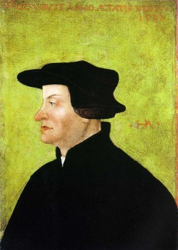 Portrait of Ulrich Zwingli after his death 1531 by Hans Asper, around 1531