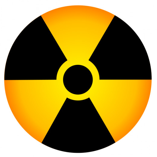 the radiation warning symbol