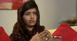 Malala speaks at a forum.