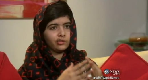 Malala speaks at a forum.