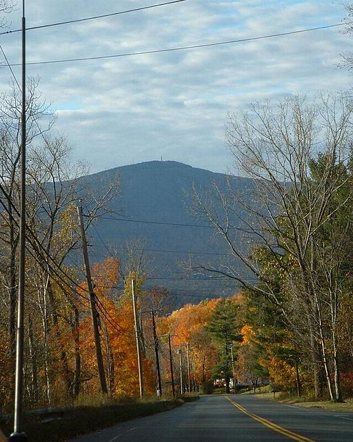 A view of Mount Greylock seen from Cheshire , MA.