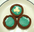 Pot of Luck Cookies, Chocolate Cookie Filled With Green Mint White Chocolate, Egg Free, Plus Gluten Free Variation