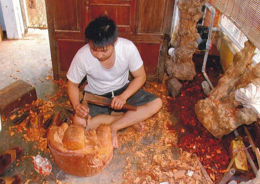 Woodworking in Vietnam via
