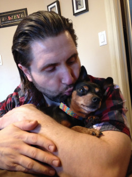 My Man And My 10-Year-Old Miniature Pinscher