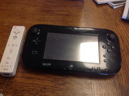 The Wii U game pad