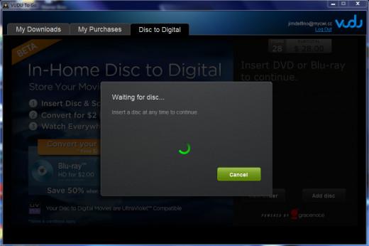 Insert a disk.