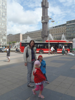My children and me in my favourite city
