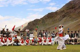 Traditional dance during the polo festival.