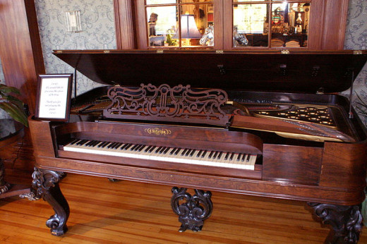 There is the antique Piano in the Ballroom of the Stanley Hotel. A ghost is said to often play this piano. Maybe if you get to stay there the ghost will play the piano for you.