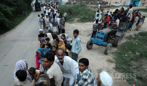 People leaving there home town due to riots in Muzaffarnagar