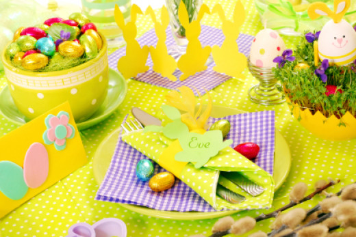 Bright colours for Easter are a fantastic representation of life
