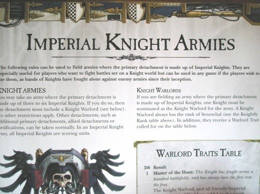 Imperial Knight Codex Review