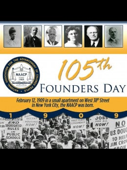 Poster Celebrating the 105th Anniversary of the NAACP