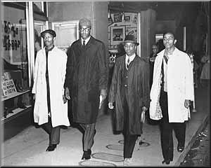 Jibreel Khazan (Ezell Blair Jr.), Franklin Eugene McCain, Joseph Alfred McNeil, and David Leinail Richmond