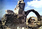 The site of Troas is deserted. All that remains are ruins such as this arch.