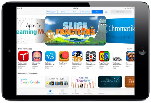 The Education section of the App Store: Screenshot by Jonathan Wylie