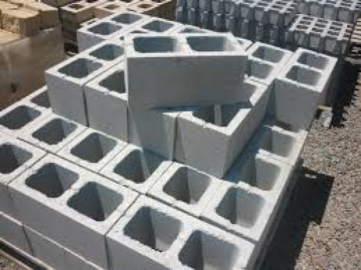 This is how the 200 series block look like on a pallet, they weigh approximately 16.7 Kg each as their description is said to be 60 to the ton.  To build with blocks is very competitive as it is easy to build a big wall compared to bricks.