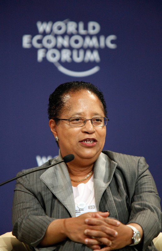 Shirley Ann Jackson at the 2010 World Economic Forum.