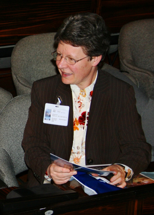 Jocelyn Bell Burnell at a 2009 astronomy event in Paris, France.