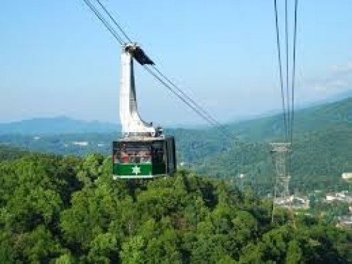 The Gatlinburg Sky Lift takes you over The Smokey Mountains.