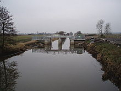 Sluice Gate on one of the larger 'drains'