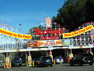 Six Flags Entrance