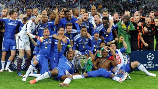 Chelsea after winning the Champions League