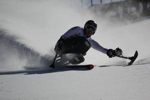 Women's sit skier Claudia Loesch of Austria.