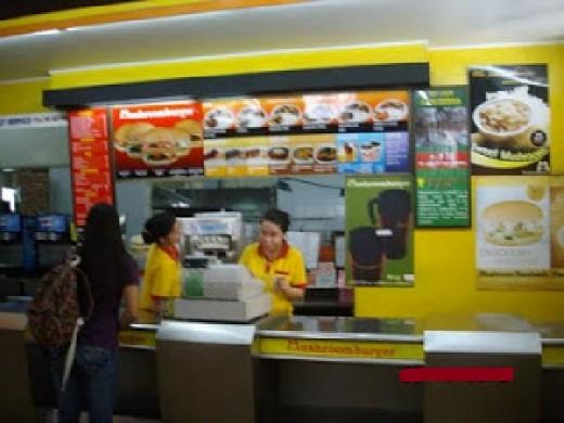 Mushroom Burger Food Order Counter