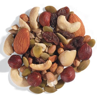 Consider making your own trail mixes, so you can control the amount and kind of sweetener.