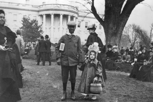 The Easter Egg Roll apparrently dates back to 1878 at the White House