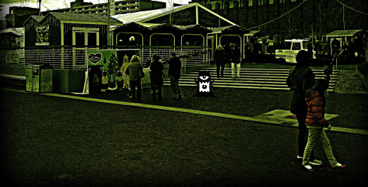 Is that a monster caught on a FLIR camera in the middle of the night in the Inner Harbor?  Of course not!  Once again, photo enhancement software added the obviously fake monster to a photo taken in the middle of the day.