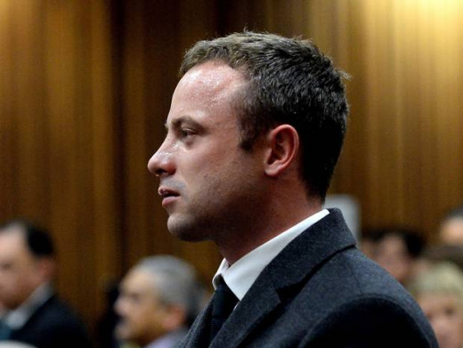 Pistorius needed a bucket in court today as he retched while pathologist spoke about Reeva's death