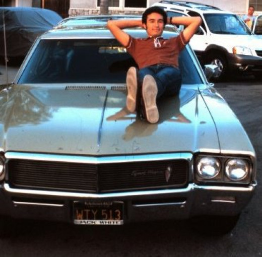 My hubby with his 1968 Buick Sportwagon. This was a few years before we met.