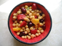 chick pea and fruit salad Bob Ewing photo