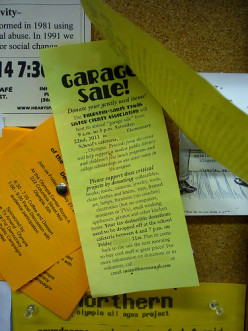Post your garage sale flyer at local businesses.