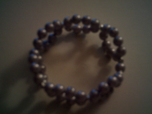 Finished 6 loop bracelet.