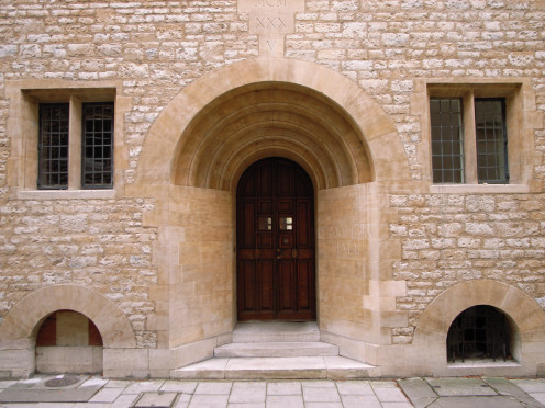 Doorway on Brewer Street, Oxford – Campion Hall (1935-7),